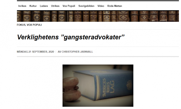 "Vox Populi: ""Verklighetens 'gangsteradvokater'"" (2020-09-21)"