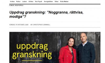"""Vox Populi: """"Granskande reportage i sex delar om den undersökande journalistiken i Sverige"""""""