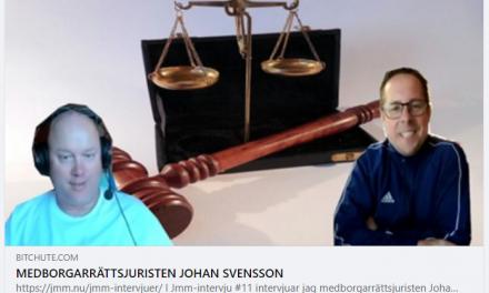 Jmm-intervju #11: Jan Malmstads video-intervju med medborgarrättsjuristen Johan Svensson